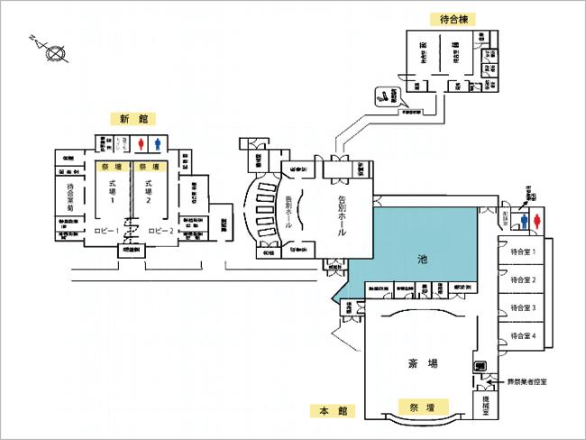 三郷市斎場の館内図